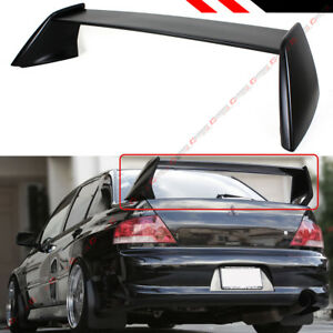 For 2002 07 Mitsubishi Lancer Evo 7 8 9 Matt Black Evo Style Trunk Spoiler Wing