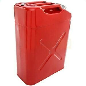 Metal Jerry Can Gasoline Container Fuel Tank Military Steel With Spout 5 Gallons