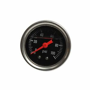 Black Fuel Pressure Regulator Gauge 0 100 Psi Liquid Fill Chrome Fuel Oil Gauge