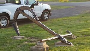 Large 19th Century Shipwreck Anchor