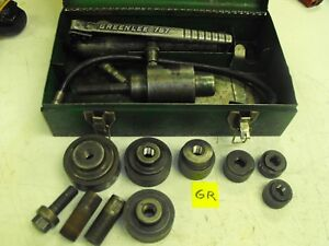 Greenlee Knock out Punch Driver Set No 7306 Hydraulic Pump No 767 Ram No 746