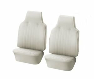 1968 1969 Vw Volkswagen Bug Slip On Bucket Seat Upholstery Off White In Stock