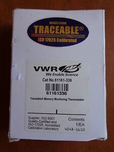 Vwr Traceable Memory High Low Monitoring Alarm Digital Thermometer 61161 336 New