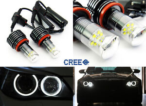 2x H8 Cree Led Angel Eye Ring Marker Light 60w For Bmw E90 E92 1 3 5 X Z Series