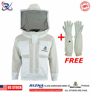 Select Ultra Ventilated 3 Layer Bee Beekeeping Jacket Round Veil 2xl sp03