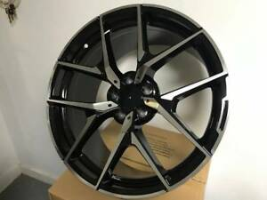 18 Stag Mercedes Benz Amg Y Spoke Style Black Rims Wheels Fits E350 E320