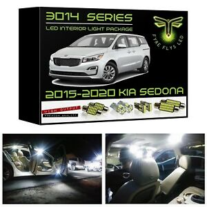White Led Interior Lights Package Kit For 2015 2019 Kia Sedona 3014 Series Smd