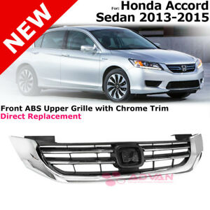 For 2013 2015 Honda Accord 4 Cylinder Front Bumper Grille Upper Top Grill Assy