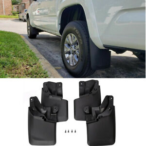 Fit 2016 2018 Tacoma Mud Flaps Mud Guards Splash Flares Molded Front Rear 4pc