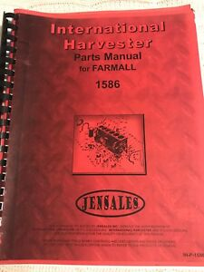Used International Harvester Farmall 1586 Tractor Parts Manual