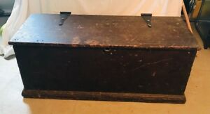 Antique Wood Dowry Blanket Chest
