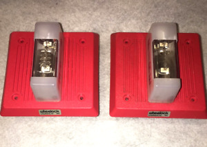 Wheelock Red Fire Alarm Horn strobe eh dl1 wm 24
