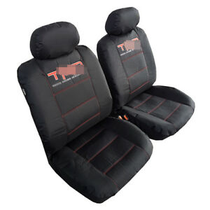2pcs New Front Black Waterproof Canvas Car Seat Covers For Toyota Tacoma
