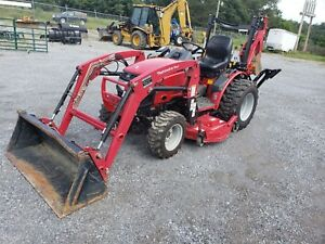 Mahindra 26xl Tractor 4x4 Loader Mower Backhoe 209 Hours