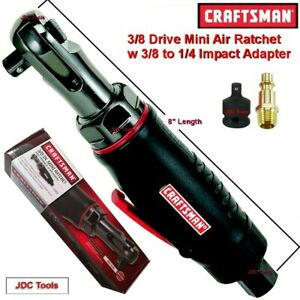 Craftsman 3 8 Drive Mini Air Ratchet Wrench W 3 8 To 1 4 Impact Adapter 1 4
