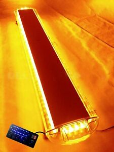 55 104w Led Amber Strobe Light Bar Emergency Beacon Hazard Warning Flash