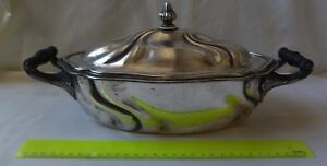 Antique 800 Silver Soup Tureen Serving Bowl By Alfred Roesner Dresden 1170 Gram