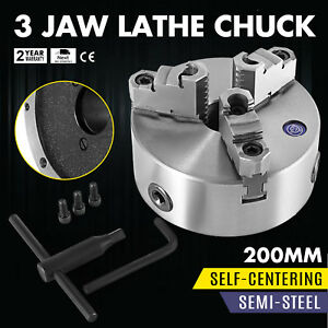 3 Jaw Manual Lathe Chuck 200mm 8 Self centering Reversible Jaw K11 200 Milling
