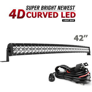 42inch Led Work Light Bar 560w Dual Row Offroad Spot Beam Fog 4d Lens Pk 40 42