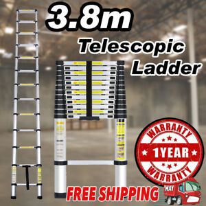 12 5ft Multipurpose Aluminum Ladder Fold Extend Telescopic Garden Tool