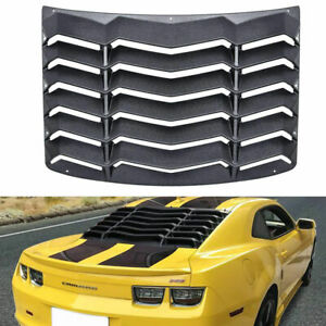 Rear Window Louver Sunshade Cover Matte Black For Chevy Chevrolet Camaro 2010 15