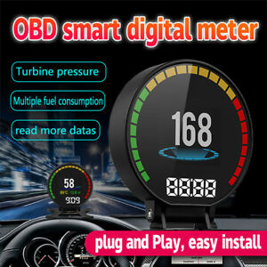 Universal Obd Car Hud Head Up Display Driving Speedometer Overspeed Warning Kit