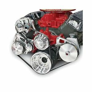 March Performance Pulley Kit Serpentine Aluminum Clear Chevy Big Block Kit 23072