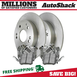 Rear Brake Calipers Ceramic Pads Rotors Kit For 2002 2005 2006 Acura Rsx 2 0l
