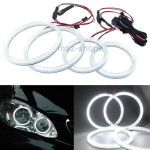Smd White Angel Eyes Halo Rings For Toyota Corolla 2001 2004 Headlight Demon Drl