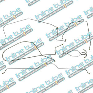 1966 Chevrolet Corvette Power Disc Complete Brake Line Kit Set 7pc Stainless