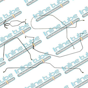 1965 Chevrolet Corvette Power Disc Complete Brake Line Kit Set 7pc Stainless
