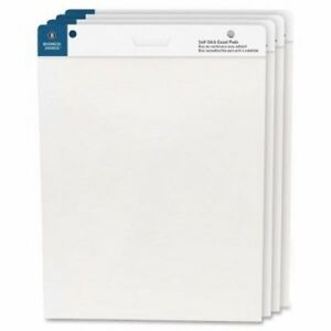 Business Source Self stick Easel Pads 25 x30 30 Sheets pad 4 pack bsn38592