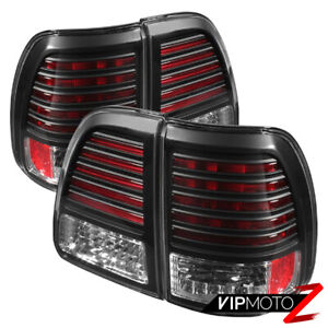 For 98 05 Toyota Land Cruiser Sport Black Diamond Smd Led Tail Light Brake Lamps