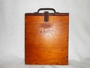 Antique Vintage Wood Box Great For Holding Documents Papers Etc Nice