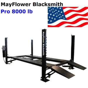 Mayflower Blacksmith Heavy Duty Four Post Lift Car Lift Storage Service Pro 8000