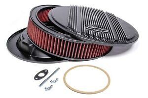 Holley Vintage Series Air Cleaner 120 172 Sbc Bowtie Finned Black Bbc Chevrolet