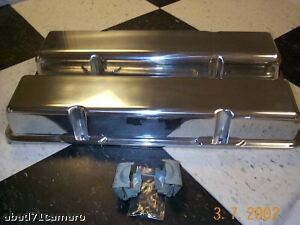 Sb Chevy Aluminum Valve Covers Tall Sbc Alum New No Holes Small Block