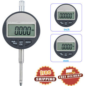 0 001mm 0 00005 4 Digits Digital Dial Indicator Probe Test Gauge 0 25 4mm 1