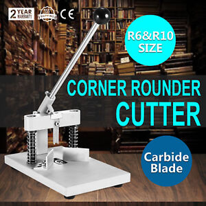 Usa Manual Paper Corner Rounder Cutter R6 R10 Aluminum Craft Trimmer All Steel