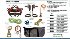 Arborists Basic Climbing Kit Sadle Spikes Lanyard Throw Line Snap