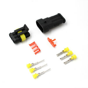 3 Pin Way 1 5mm Sealed Waterproof Electrical Wiring Connector Plug Terminal Kits