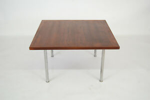 Hans Wegner Teak And Steel Coffee Table Danish Modern Eames Era