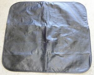 Vintage Gm Black Vinyl Fender Mat Protective Cover Spark Plugs Batteries Tune Up