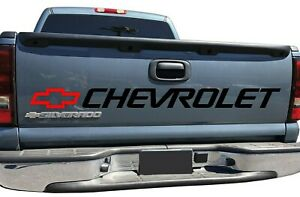 Silverado Tailgate Sticker Vinyl Decal 454 Ss 400 Ss Bed Letters