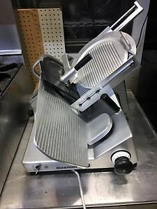 Bizerba Manual Meat Cheese Deli Slicer Commercial Nsf Se12 Works Best Deal