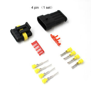 4 Pin Way 1 5mm Sealed Waterproof Electrical Wire Connector Plug Terminal Kits