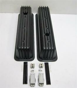 Chevy Vortec Tbi Black Aluminum Finned Tall Valve Covers 305 350 Center Bolt New