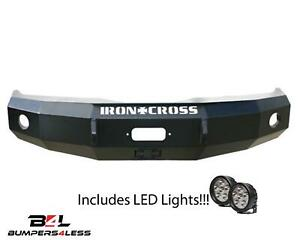 Iron Cross Automotive 20 515 07hd Frt Winch Bumper W Leds For 07 13 Chevy 1500