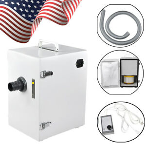 usa Stock dental Lab Digital Single row Dust Collector Vacuum Cleaner 370w Oral