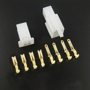 4way Pin 2 8mm Car Electrical Wire Plug Jack Connector Crimp Terminal Block Kits